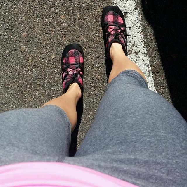 @aabarbie sporting our lumberjack #pakems after a long #workout why not having a comfortable relaxing shoe to slip into #shoes #fashion #colorado #denver #apparel #instafashion