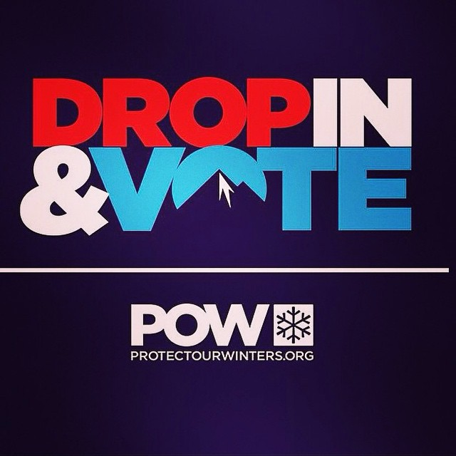 Happy Election Day America! Help make this the world you want to live (and ski) in. #DropInandVote  Polls are open till 8pm tonight in CA
