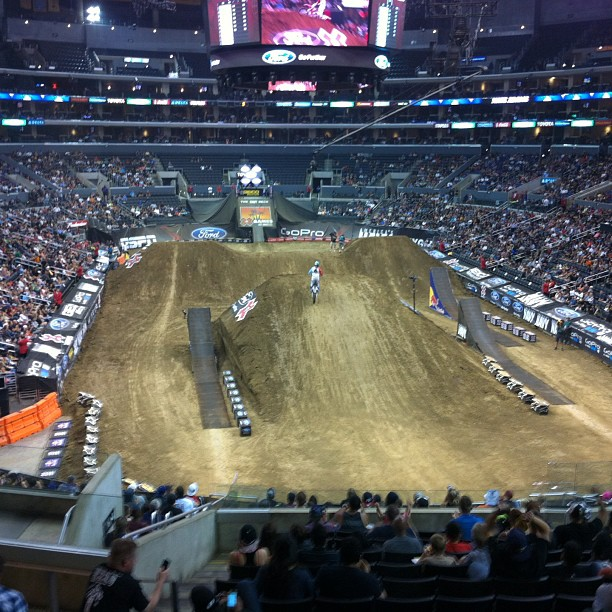 Finishing the night back at the Staples Center at the Moto X Freestyle! #fsf #flipsidefresh #xgames #espn #beyondbelief