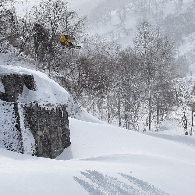 Go to the @snowboardermag website snowboarder dot com right now and watch @scottyvine Postcard Series The Japan Episode from @arborsnowboards. Flux riders @erikleon_ @krocadil and @yumaabe join Scotty for some of that infamous Japan powder....