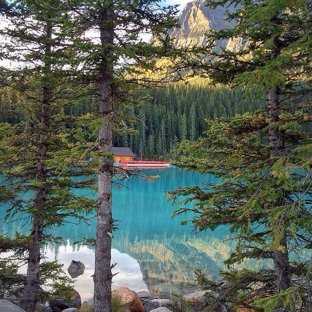 @ericaleecraig stumbles upon a pristine lake in Alberta #gorumpl