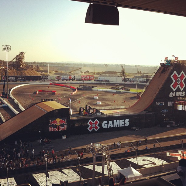 Big Air! #xgames #skateboard #sk8fsf #flipsidefresh #irwindalespeedway