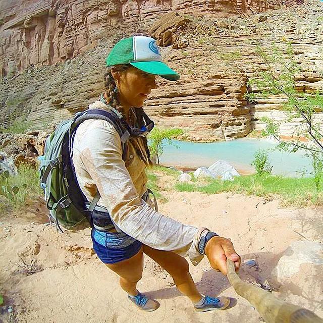 Hiking in Havasu Creek.. #grandcanyon #rivertrip