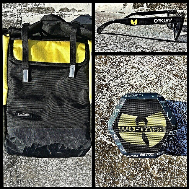 Enter our #ftw giveaway for a chance to win this #killabee combo including a limited edition #wutangclan Boombot REX, exclusive #oakley frogskins and a custom #timbuk2 bag #linkinbio #giveaway #forthewin #boombotix