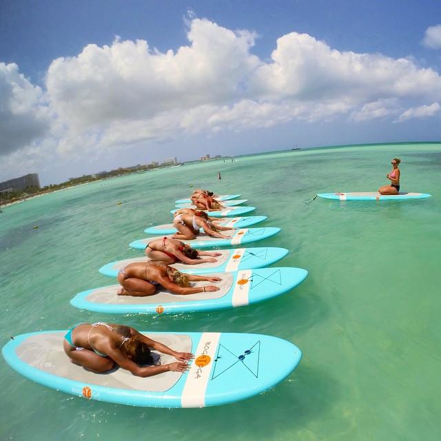 Finding bliss in Aruba with @yoga_girl. #yoga