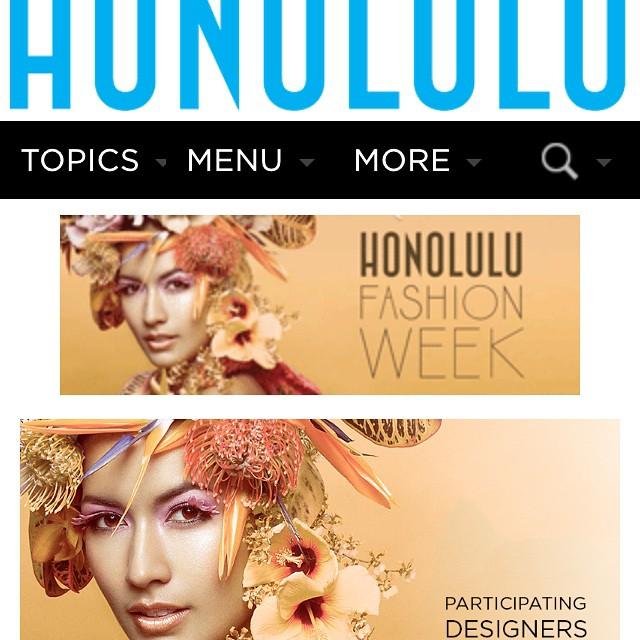 #Organik is part of #Honolulu #fashion week starting tomorrow. #honolulufw #luckywelivehi.