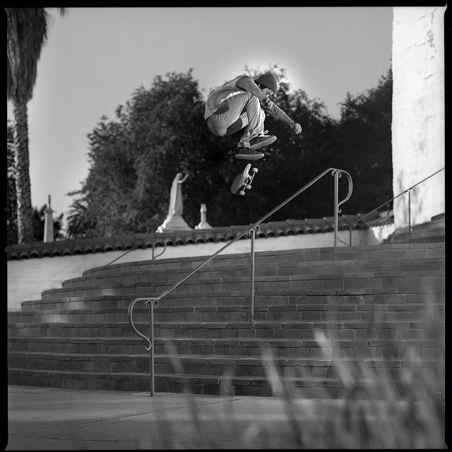 @hennessy_black with a solid #heelflip in #issue32 #steezmagazine shot by @muchnikphoto #film #blackandwhite #tonypotenti #sfbay #skateboarding #leegoldberg