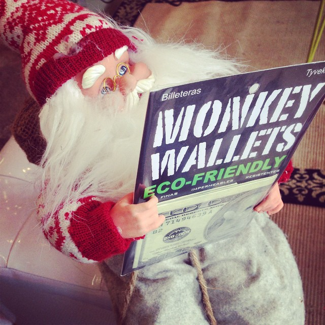 #navidad2014 #santaclaus #monkeywallets @monkeywallets