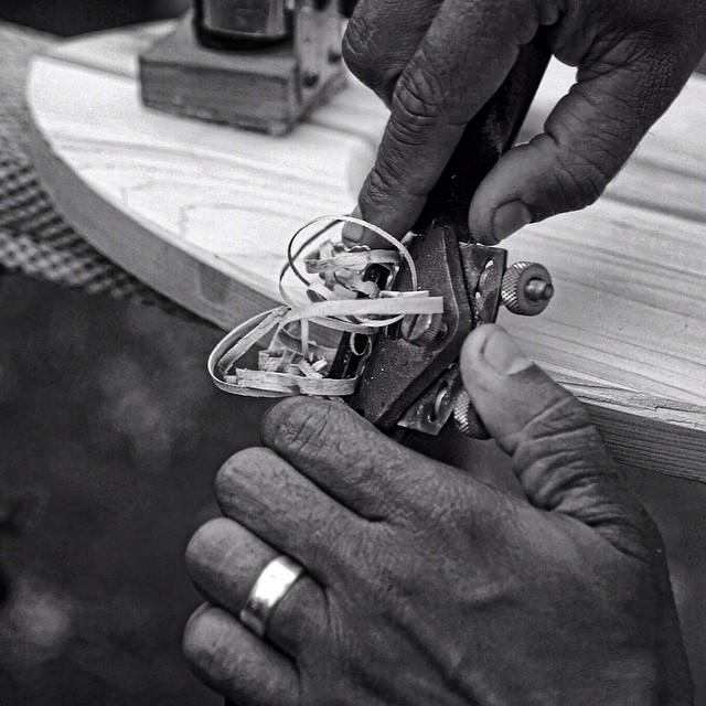 Handplane shaping up at @grainsurfboards (summer 13) #wood #good #maine #handplane #grain #coldwatersurf