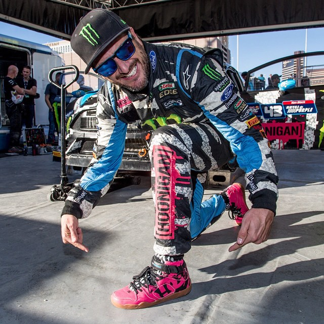 We're Happy to congratulate @kblock43 on his win at #GlobalRallycross Las Vegas!  Want to snag the shoes Ken wore in his final #RallyCross race of the season? Purchase a raffle ticket for a chance to win the very last pair of #KenBlock +DC +...