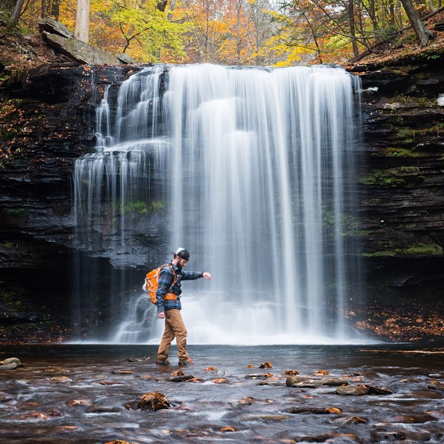 Travis (@travisburkephotography) is giving the Hikers a good test. #getoutthere #adventureworthy #dontgochasingwaterfalls