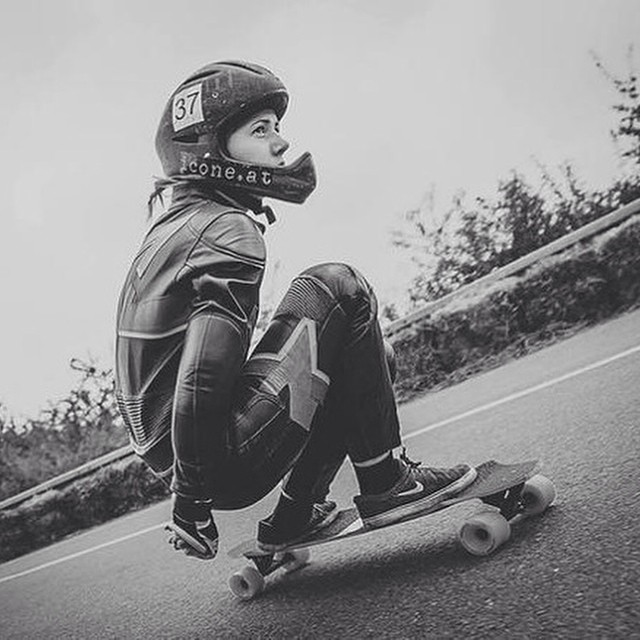 Kika Grežďová from Longboard Girls Crew #Slovakia shot by Marek Štefech. Have a rad Thursday everyone!  #longboardgirlscrew #girlswhoshred