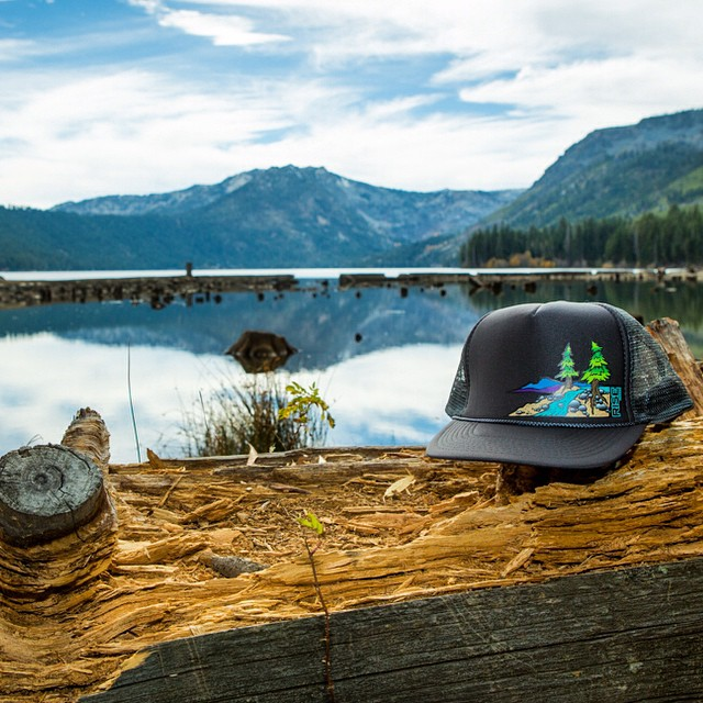 "Truckee River Trucker Hat - Charcoal Grey - www.risegraphics.com . Get free shipping when you enter ""FREESHIP"""