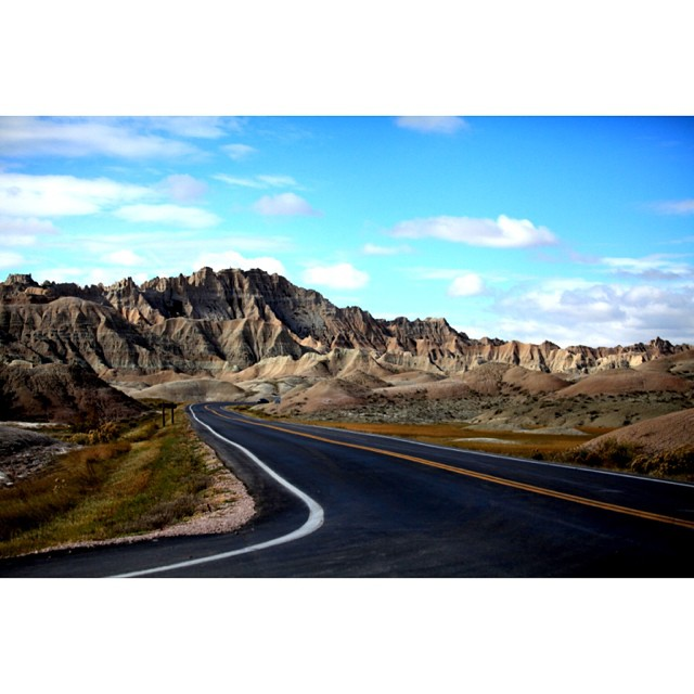 Three years today my pops passed away. It's always a tough day no matter how you cut it. The goal today is to smile, laugh, love and remember that the road will always go on. Even when there's no one on it.  When I shot this image in the #badlands I...