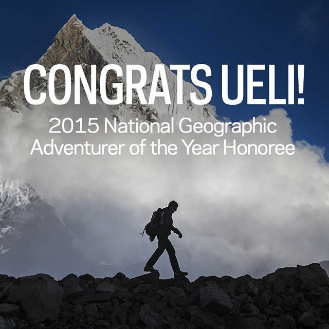 Congrats to @uelisteck for being nominated as one of the @natgeo Adventurers of the Year! Follow the link in our profile to learn more about Ueli and to find out how to vote for your favorite adventurer! #GetOutStayOut  Photo: @danpatitucci