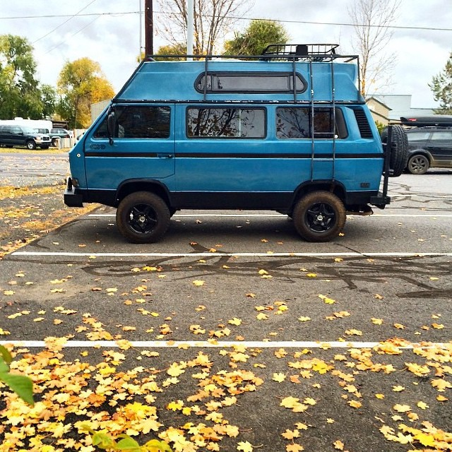 We hope your weekend is filled with adventure! ✨  Regram from @polerstuff photo by @austinbrown_ #outdoor #adventure #vwlife #inspiration  #localhoneydesigns #germansdoitbest #fall #passingthrough #love