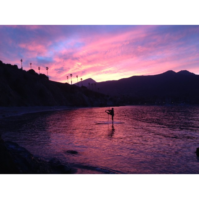 Incredible photo we took of @olympussup in Catalina this weekend! #gorgeous #supyogi #michellegierst #beautiful #sunset #nofilter #catalina #love #goodtimes #goodfriends #goodmemories #grateful