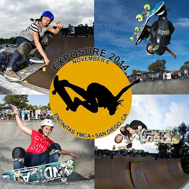 Tomorrow Nov 8 don't miss the @exposureskate benefit event promoting and supporting female skateboarding while raising funds for domestic violence survivors. @lizziearmanto, @allyshabergado, @noravexplora or @ameliabrodka are some of the skaters who...