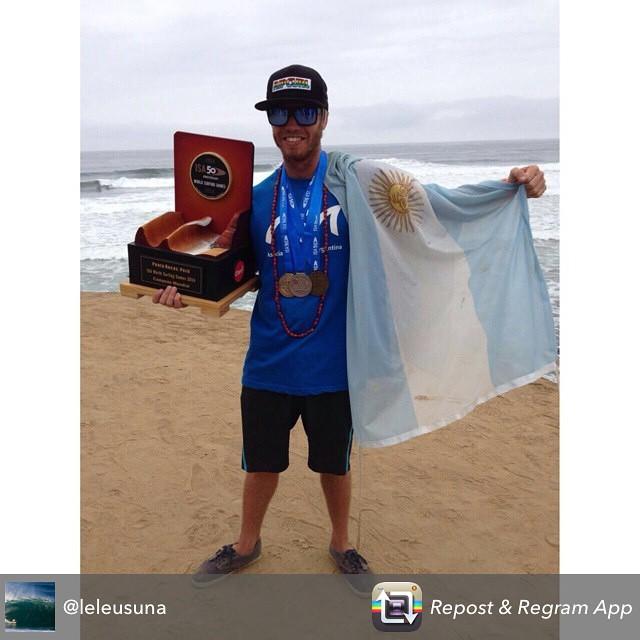 Un día inolvidable... @leleusuna  #VamosArgentina #MundialISA #reefargentina