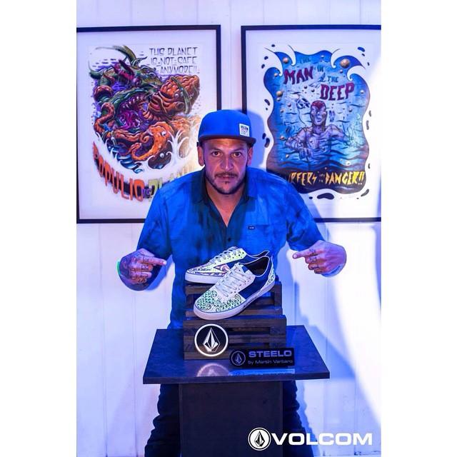Steelo intervenidas por @mvarbaro para #Volcomfootwear #featuredArtis #Art #Volcom #SS15 #MartinVarbaro