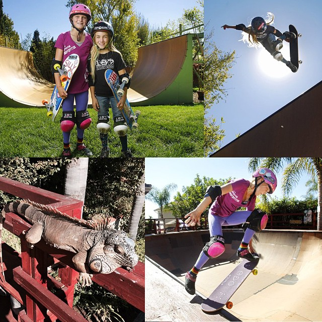 The @utsandiego ran a rad feature story on these two local she-redders today. Read about @brightonzeuner, #BryceWettstein and #SpiketheIguana at bit.ly/1AAxg5K (link in bio). --- Thank you to #TodLeonard for the words and @kcalfredphoto for the pics!