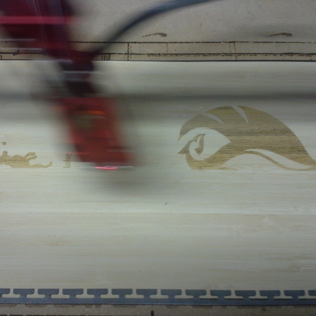 A phoenix rising from the laser #orangehot #colorado #skis #customtopsheet