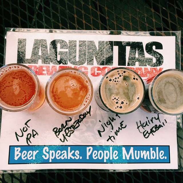Our weekend is off to a great start! First stop, Lagunitas Brewery. Where are you headed this weekend? | #BeerSpeaksPeopleMumble #CraftBrew #NotBad