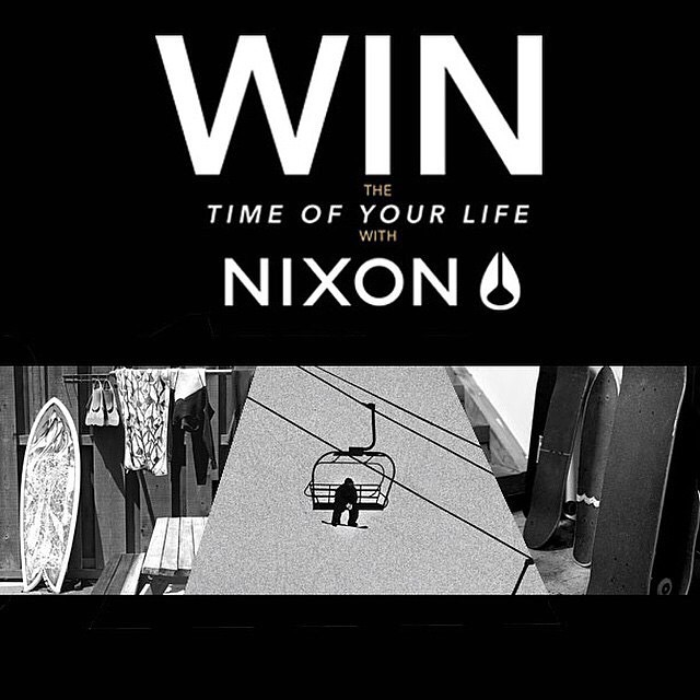 Win the time of your life from @nixon_now and @zumiez.  Want a VIP trip to design your own one-of-a-kind Nixon watch AND hang with pro athletes from the Nixon team in California? Enter now with the link in @zumiez bio. #nixon