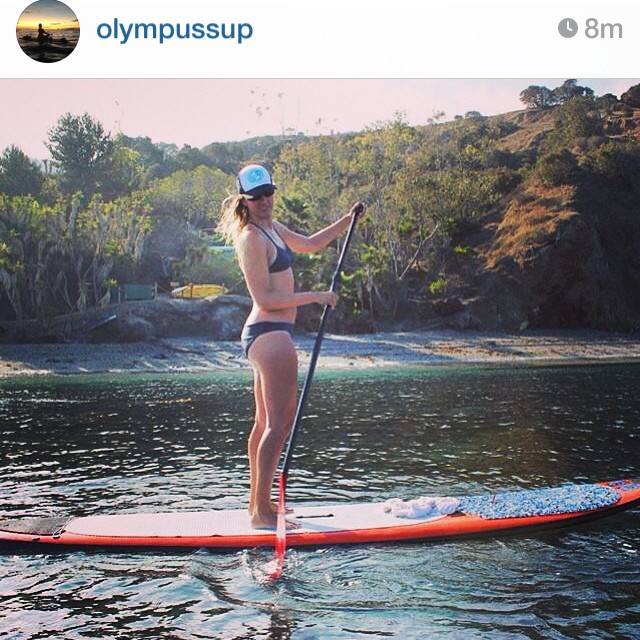 Regram from @olympussup of our gorgeous friend Anne after a morning yoga session in Catalina. Amazing class led by our beloved sup yogi guru Michelle Gierst! #localhoneydesigns #olympussup #brazil2 #slate #bikini #reversible  #functional #beautiful ...