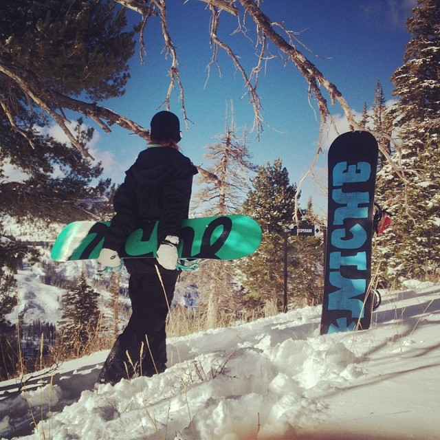 A lovely stroll this morning at @brightonresort lead to some fresh turns and lots of #powder!