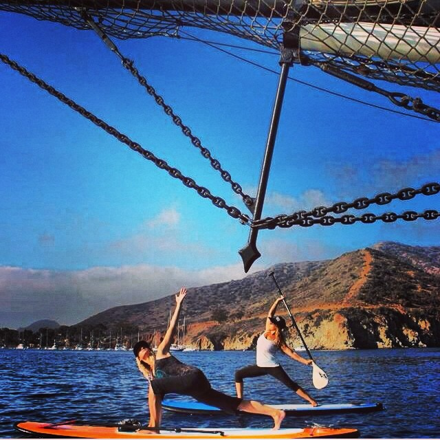 #regram from @olympussup looks like a really fun adventure had this weekend by @calirainbow and friends. #suplife #Catalina #sup #supyoga #namaste #localhoneydesigns #twist #adventure #travel #sunshine #love #swim #bikinis #California #coast #supgear...