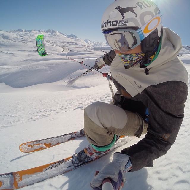 Photo of the Day! GoPro athlete @leroydamo kites the frozen waters of Alaska.