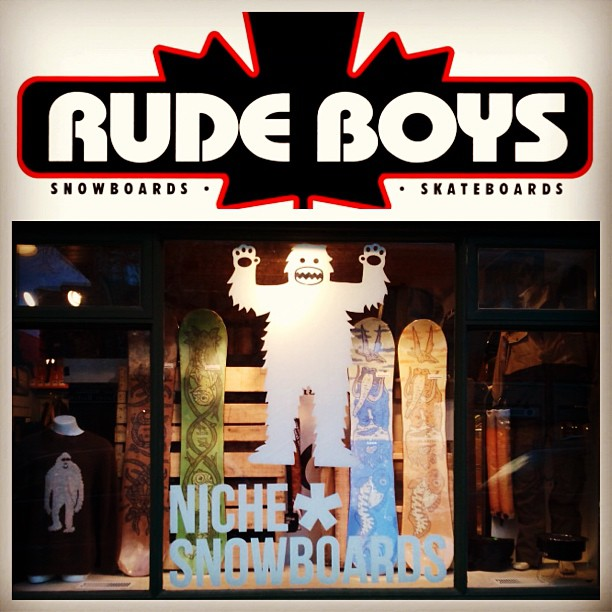 We're seriously diggin' the new window display at Rude Boys in Canada!