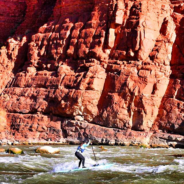 Red rock whitewater