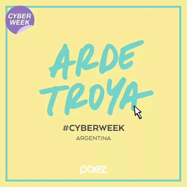 Mañana #ardetroya! #cyberweek #weshop #onlyArgentina