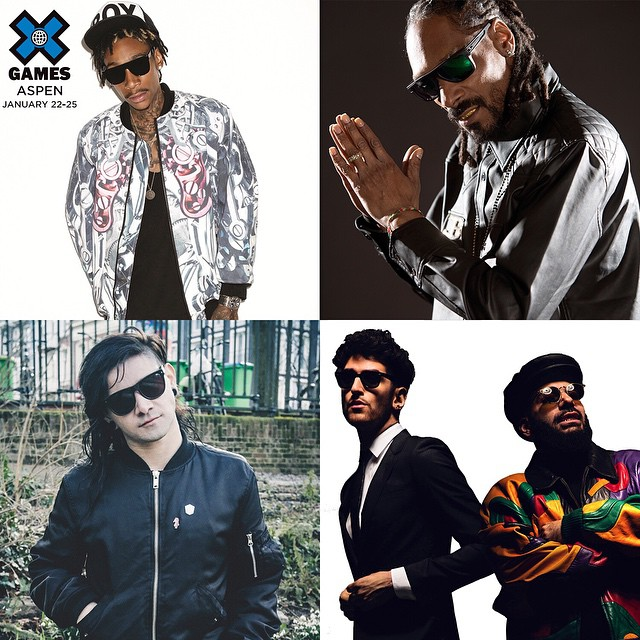 #XGames Aspen Music: • @mistercap • @snoopdogg • @skrillex • @chromeo  Click the link on our profile page to purchase tickets.