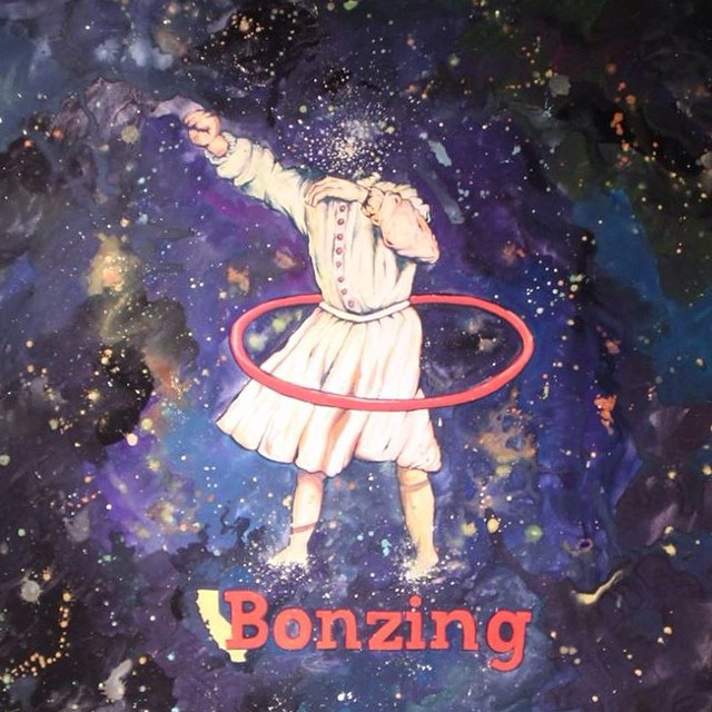 Here is a sneak peak of the graphic on our new board we have coming out!  The board shape and graphic was created by Team rider Yvonne Byers--@yvonzing!  #yvonnebyers #bonzing #sanfrancisco #skateboarding #shapers #artists