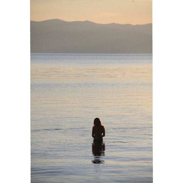 The lake is a great place to reflect. #laketahoe #model #claytonhumphriesphotography #sunset #california