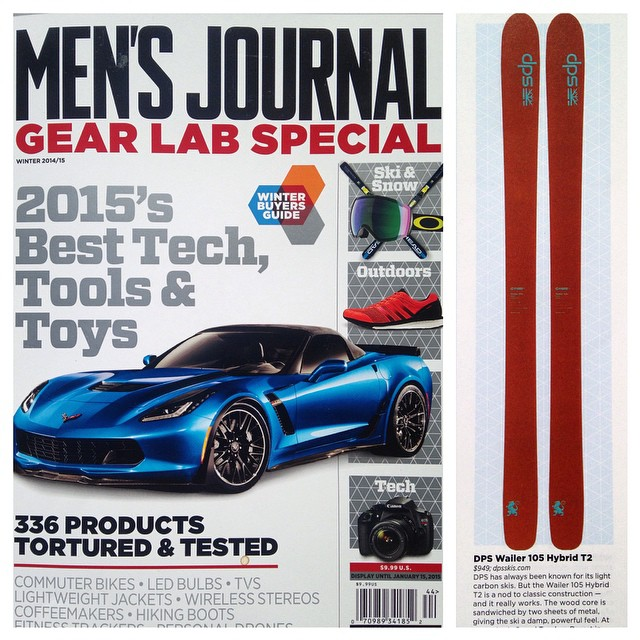 "The Wailer 105 T2 makes an appearance in @mensjournal. ""A nod to a classic construction that really works."" #GearLab #dpsskis #skiing"