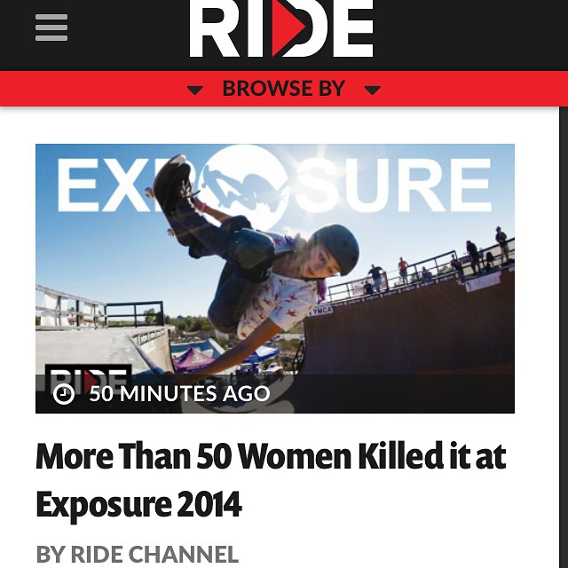 Check out the #exposure2014 recap@on the RIDE Channel. Go to our bio for the link! #thankyouskateboarding @ridechannel @lizziearmanto @allyshabergado @julzlovespoolz @poppystarr @jordynbarratt @gabyskates