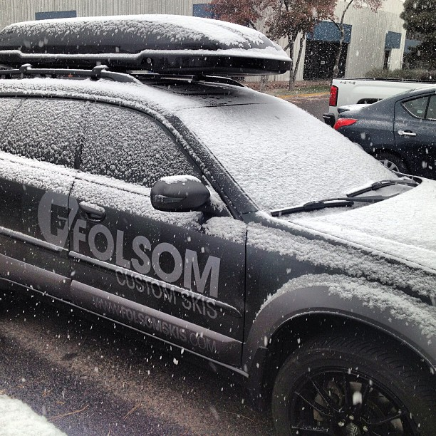 The snow has finally showed up here in #denver #winterishere