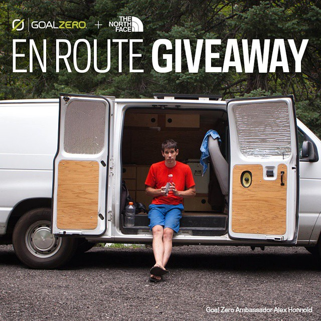 We've teamed up with @alexhonnold  and @thenorthface on a giveaway to help you stock up for life on the road! Follow the link in our profile to see the prizes and enter!