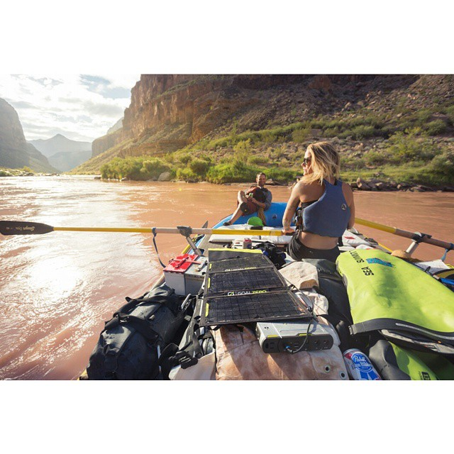 Floating through the Grand Canyon with @kalenthorien. Twenty plus days of off-grid living. #GetOutStayOut  Photo: @perpetualweekend