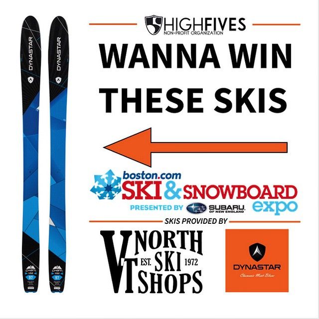 #dynastar @vtnorthskishop & Hi5s are giving away a pair of Dynastar High Mountain 97 #skis to anyone purchasing any gear from The High Fives booth @ the Boston Ski Show Nov 13th - 16th. Come find us there!