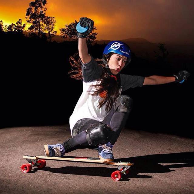 @melbrogni shot by Fruke Alves. Longboard Girls Crew Brasil on fire!  #longboardgirlscrew #girlswhoshred #melissabrogni