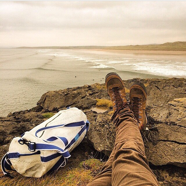 Try not to put yourself in @marcostacon shoes // #mafiaduffle  #explore  Ireland #surfing  #mafiajoy #mafiabags