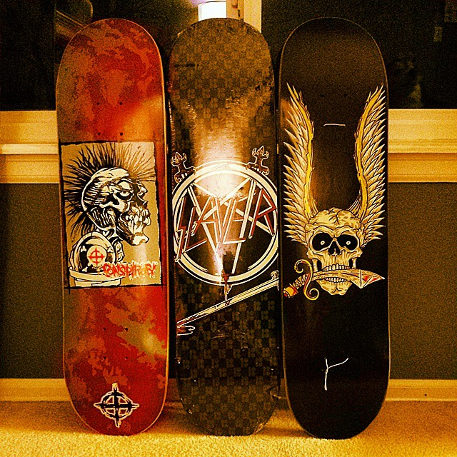 @skateboardcollectors @planbofficial #conspiracy #slayer #limited #mikemcgill