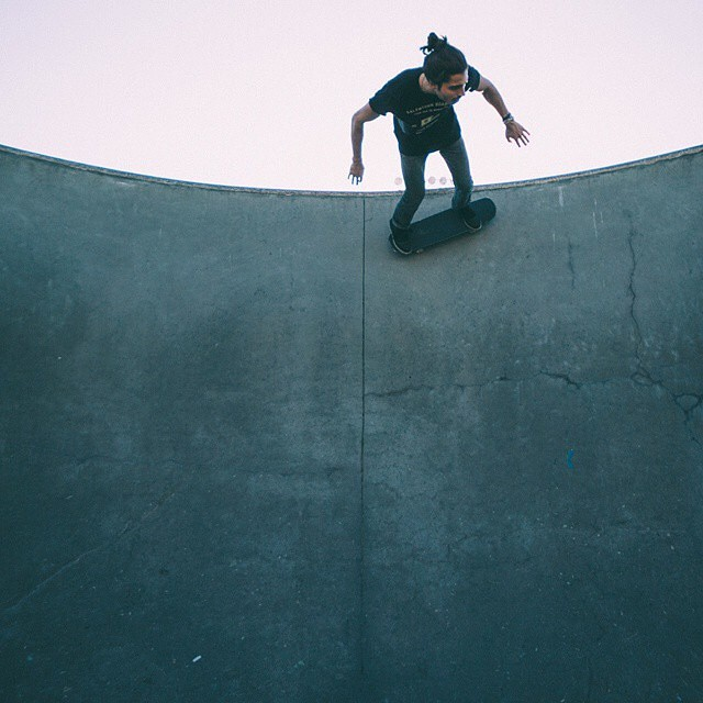 Riding high.  Photo credit: @_anchored #handmade #skateboards #skatetheedges #salemtownboardco