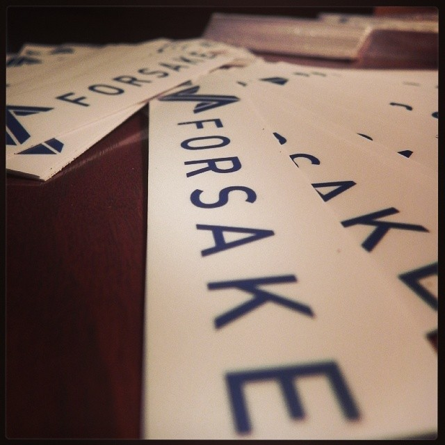 We got more stickers! Email your address and how many you want to stickers@forsake.co to get yours! #free99 #Forsake