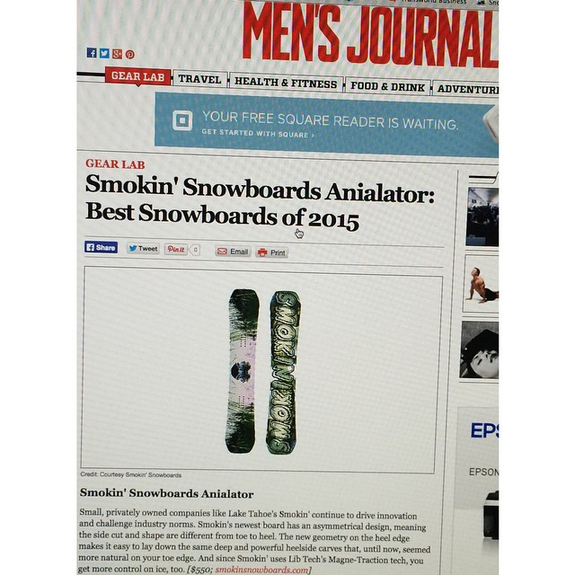 "We worked real hard with @nial_romanek designing his #anNIALator Pro Model, we are so stoked for this one. Thanks @mensjournal for the exposure for  Nial and our brand! ""Small privately owned companies like Lake Tahoes Smokin' continue to drive..."